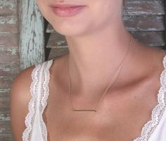 Gold necklace tube necklace bar necklace simple necklace by Avnis, $24.00