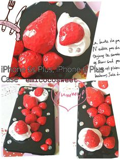 Cute Fruit Patterned Silicone TPU Soft Case Cover For iPhone X 8 7 Plus. Compatible for Apple iphone 6 6 Plus / Plus / 7 7 Plus / 8 8 Plus / X. 1 x Phone case cover for iPhone. Iphone 6, Iphone Phone Cases, Decoden Phone Case, Cute Fruit, Mobile Accessories, Cute Phone Cases, 6s Plus, My Etsy Shop, Strawberry