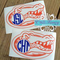 Monogram Gators Car Decal Y'all Fancy by YallFancyBoutique, $6.00