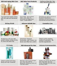 Arbonne's product line: make-up, skincare, men's line, nutrition, Suncare, aromatherapy, baby care, detox and much more! For more information click here: http://MyOrder.myarbonne.com