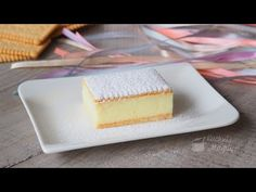 Kremówka bez pieczenia - YouTube Cheesecake, Food, Youtube, Cheesecakes, Essen, Meals, Yemek, Youtubers, Cherry Cheesecake Shooters