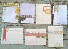 Handmade PL Journaling Cards - Michelle Wooderson