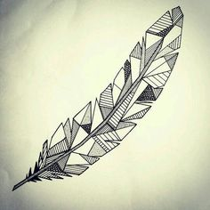 Geometric feather.: