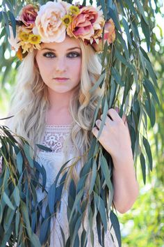 ❀ Flower Maiden Fantasy ❀ beautiful photography of women and flowers - wreath