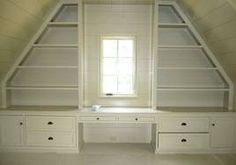sloping roof built ins - Google Search