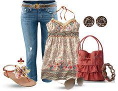 Kleid Floral - Polyvore