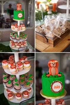 Orange and Green Lion Themed Baby Shower