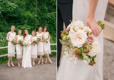 White bridesmaid dresses | Photo by Young Hearts | Read more - http://www.100layercake.com/blog/?p=70932