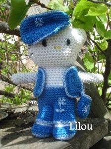 Hello Kitty jean crochet