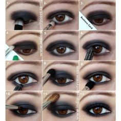 Top 10 Colors For Brown Eyes Makeup ❤ liked on Polyvore featuring beauty products, makeup, eye makeup, eyes and beauty