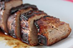 Spicy honey butter pork tenderloin... think ribs without the bones :P