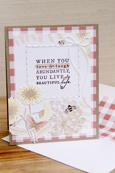 Love & Laugh Card by Erin Lincoln for Papertrey Ink (May 2015)