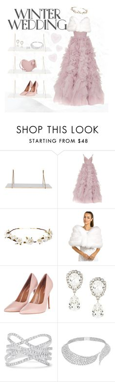 """""""Winter wedding guest"""" by lalolile ❤ liked on Polyvore featuring Monique Lhuillier, Cult Gaia, FRR, Topshop, Dolce&Gabbana, Effy Jewelry and Messika"""