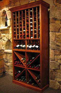 Wine Storage Cabinets | Mahogany wine cabinet by Kessick Wine Cellars | Appliancist