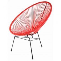 Chaise design Acapulco Rouge  - La Chaise Longue