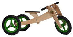 Balance Bike de madeira (kit 3 em 1) - Brinquedos educativos inspirados na Pedagogia Waldorf