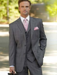 100% Wool Two-Button Notch Lapel Suit from Paul Fredrick