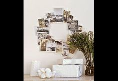 DIY wreath, a family photo wreath