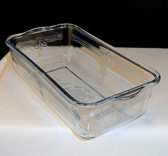 Vintage 1940's Fire King Sapphire Blue Glass Philbe Loaf Baking Pan  $20