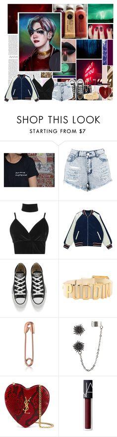 """""ι'м яσттєи тσ тнє ¢σяє.. ι'м иσтнιиg ℓιкє тнαт кι∂ иєχт-∂σσя....""//EXO Baekhyun-Harley Quinn inspired set! ♥️"" by akinddakai ❤ liked on Polyvore featuring Dirty Pretty Things, Sans Souci, Boohoo, Chicnova Fashion, Converse, Yves Saint Laurent, NARS Cosmetics and H&M"