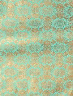 Lokta Far East Gold on Turquoise Fine Paper