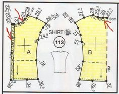 Top - Boss den Goldpokal - New Ideas Blouse Patterns, Clothing Patterns, Sewing Patterns, Sewing Hacks, Sewing Crafts, Sewing Projects, Sewing Clothes, Diy Clothes, Bra Pattern