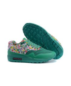 44b74cb6108 Women s Nike Air Max 1 MC SP Print Shoes Caribbean Green Pink Blue