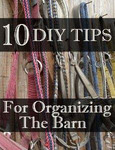 10 DIY Tips for Organizing The Barn