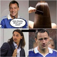Obrońca Chelsea Londyn chciał poderwać młodą niewiastę • John Terry oszukał się i wyrwał Zlatana Ibrahimovicia • Wejdź i zobacz >>