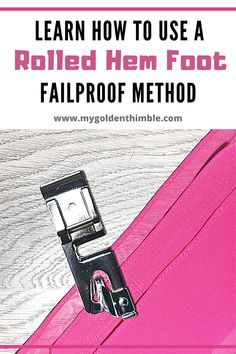 Sewing Tips, Sewing Hacks, Sewing Tutorials, Sewing Projects, Sewing Patterns, Zipper Tutorial, Diy Tutorial, Sewing Rooms, Rolled Hem