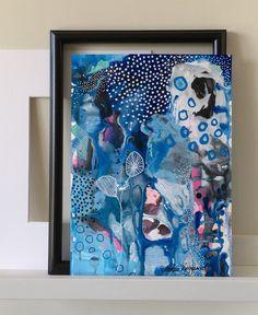 Papir maleri A4. Indrammes efter din smag.  www.gallerimarlene.com