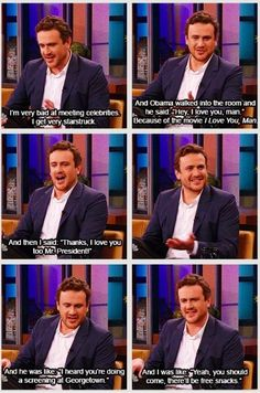 Jason Segel.. Adorably awkward