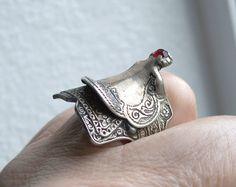 Vintage Sterling Silver Saddle Ring,Biker Ring,Silver Saddle Ring,Western Saddle,Southwestern,Rockabilly,Western Saddle Ring,Mens Ring,Sz 11 by Oldtreasuretrunk on Etsy