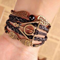 Harry Potter Golden Snitch Owl Hand-woven Bracelet