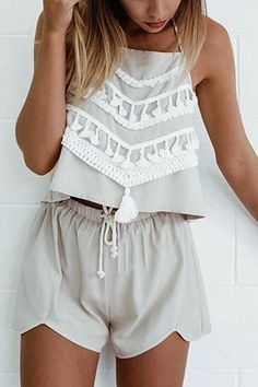 Choker Neck Cut Out Asymmetric Detail Co-ord Set with Zip from mobile - US$21.95 -YOINS