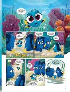 This Finding Dory comic strip is adorable and totally captured our hearts by beginning with an image of baby Dory!