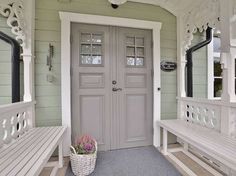 1444119645792289581_lowres House Styles, Swedish Cottage, Victorian Porch, Home, Modern House Design, House, Cottage, Modern House, Cottage Furniture