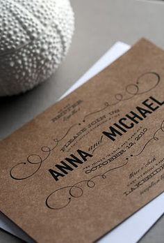 craft paper, black ink, and great fonts.