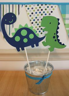Dinosaur Party Centerpiece by Pinkless on Etsy