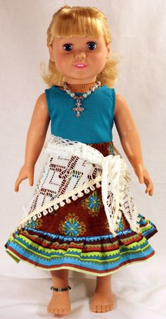 18 Inch Doll Clothing - Cancun Holiday. $28.00, via Etsy.