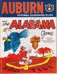 1971 Au vs Bama