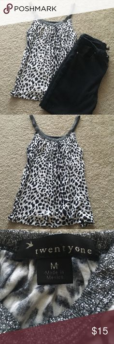 Cheetah Print Flowy Top Cheetah Print Flowy Forever 21 Top. A classic addition to any wardrobe! Forever 21 Tops Tank Tops