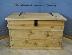 Large Storage Trunk With Rope Handles - Rustic Pine, £164.99