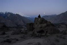Good Morning Sunshine.  Waiting for sunrise. Hunza Valley.Pakistan