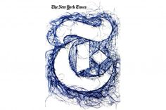 New York Times by Debbie Smith. String Art