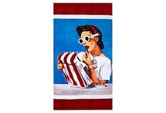 Condé Nast Beach Towel, Lipstick on OneKingsLane.com