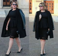 trendy plus size work outfit for the professional