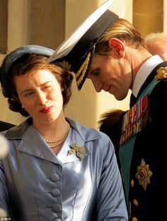 Regal: Matt Smith was back on form as he recently joined forces with co-star Claire Foy on location at the Old Royal Naval College in Greenwich to film scenes for upcoming royal drama The Crown The Crown Tv Show, The Crown Series, Matt Smith, Young Prince Philip, Selena, Crown Netflix, The Crown Season, Cinema, Queen Elizabeth Ii