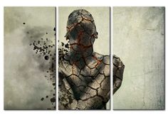 """Cuadro moderno - """"The man of stone - triptych"""""""