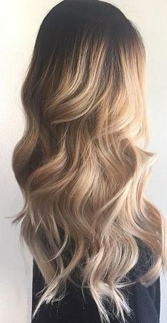 wavy ombre dark roots - Spring hair colors